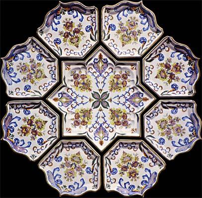Cr ation et reproduction de d cors sur c ramique peints sur lave maill e et - Decors muraux exterieurs ...